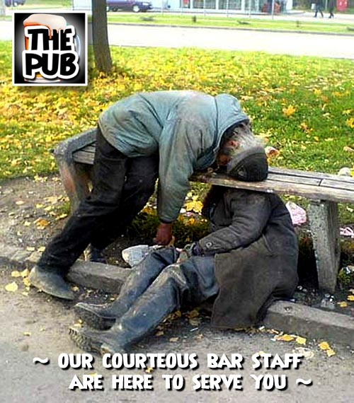 Courteous Bar staff