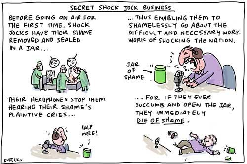 Shock Jock Cartoon
